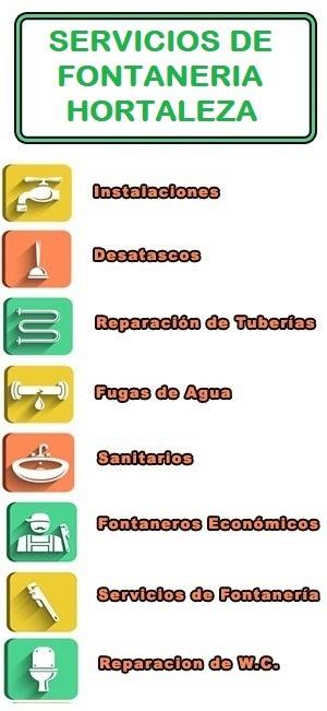 servicios de fontaneria en Hortaleza